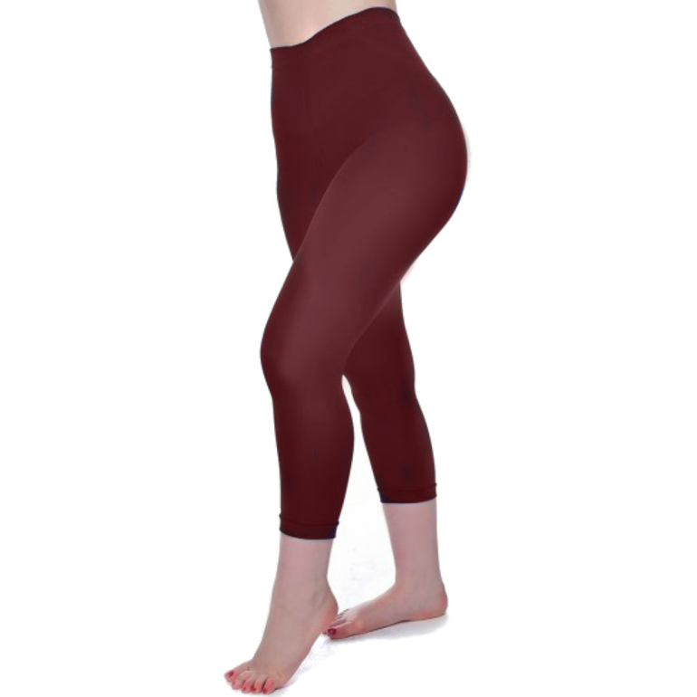 Bordeaux 50 Denier Super Stretch Capri Leggings