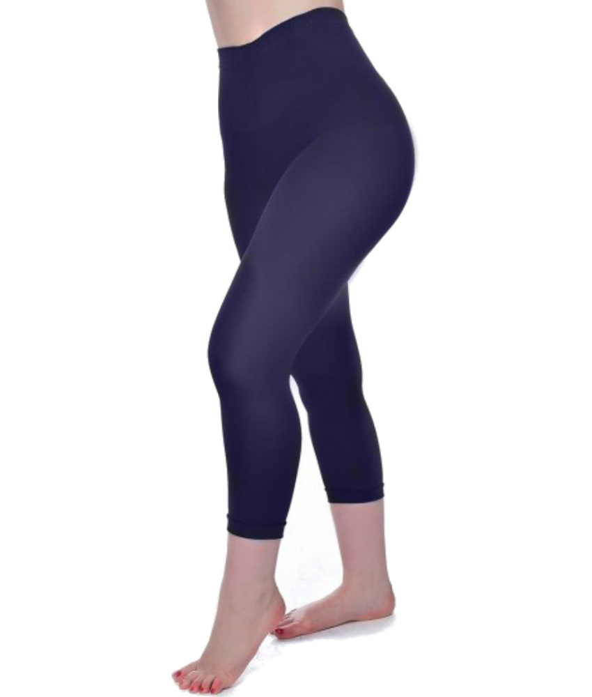 Navy 50 Denier Super Stretch Capri Leggings