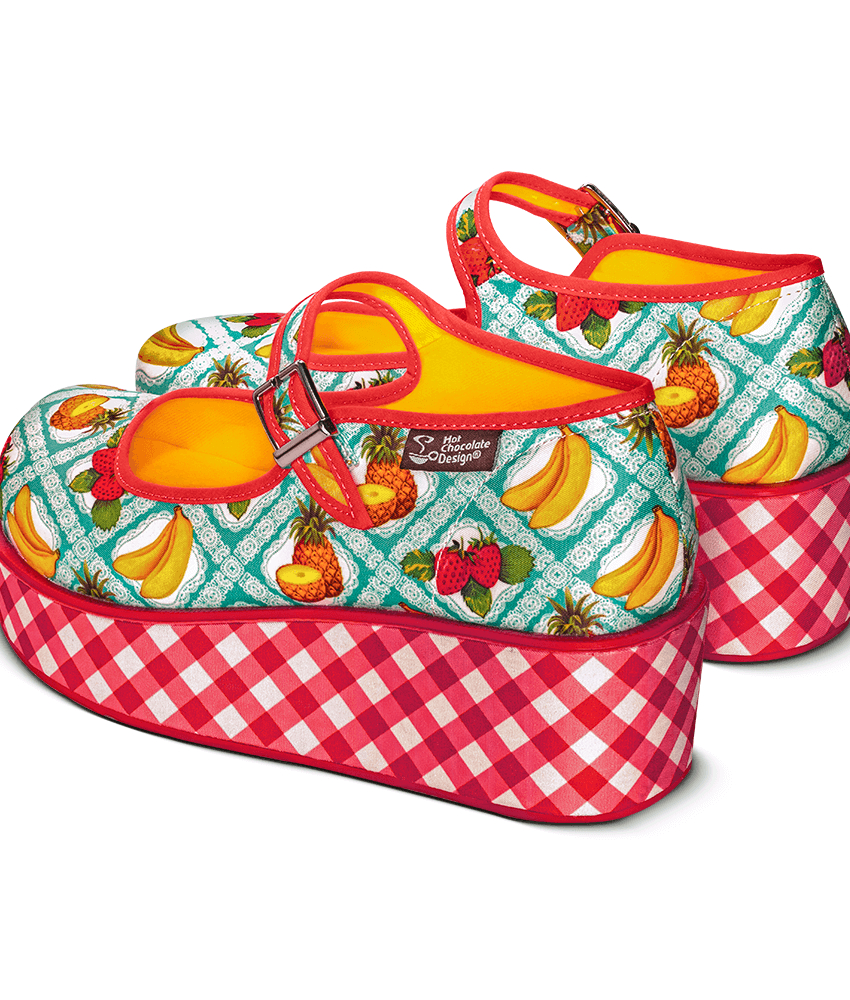 Kitsch Picnic Mary Jane Platform Sko fra Hot Chocolate Design