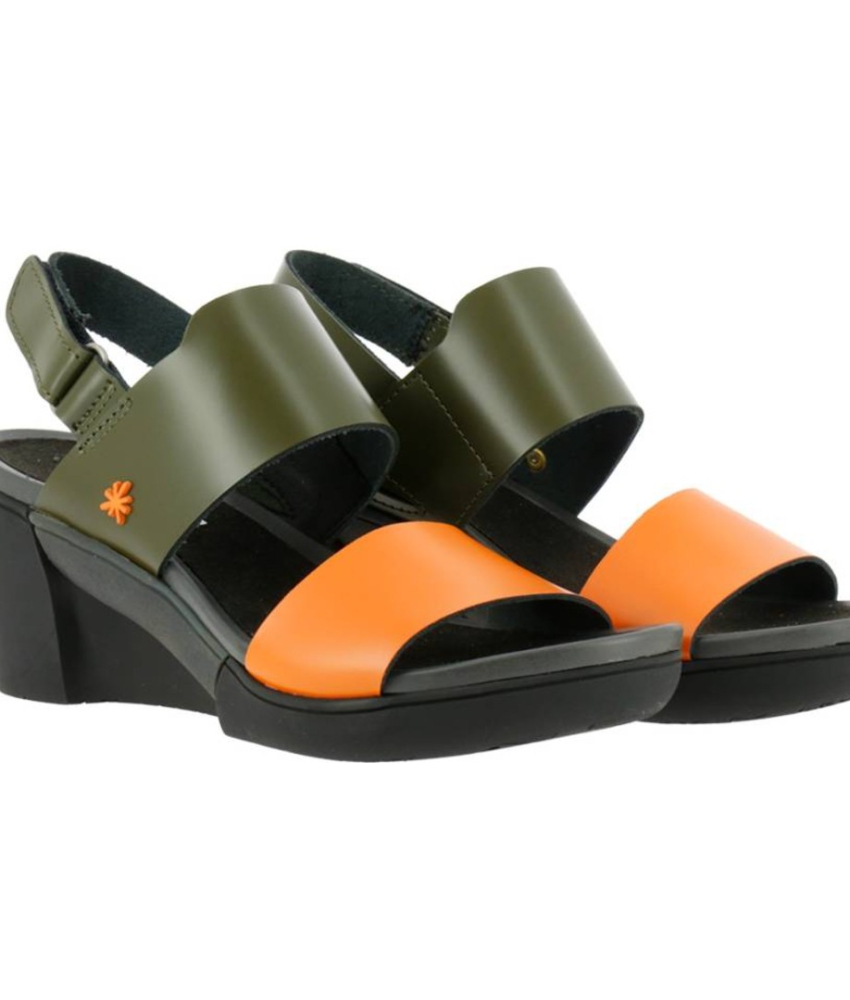 Art Sandal. Rotterdam City Kaki-Orange - 1673