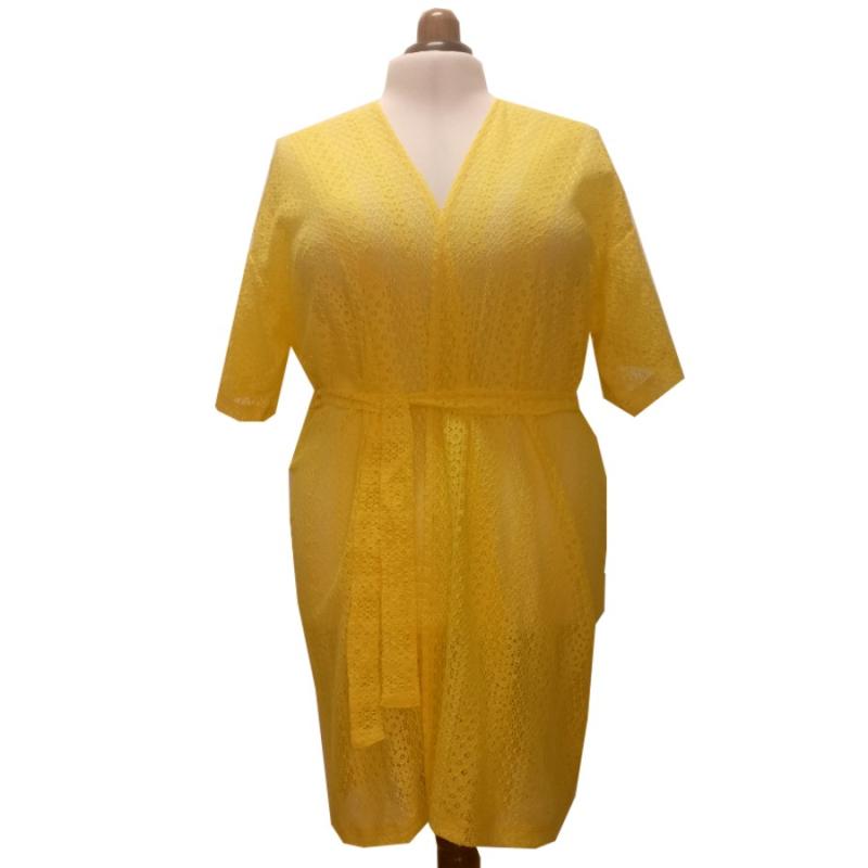 Kimono Yellow Lace
