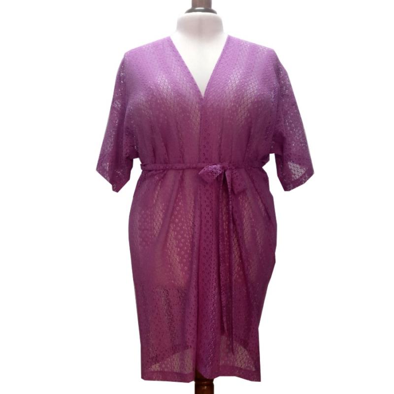 Kimono Lavender Lace