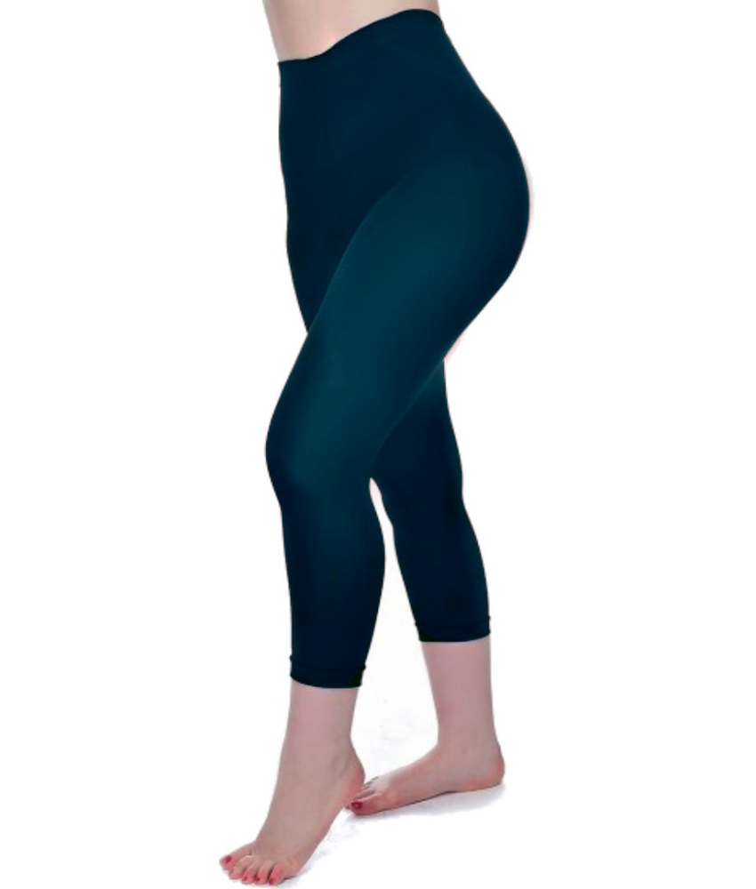 Dark Teal Curvy Super Stretch Capri Leggings