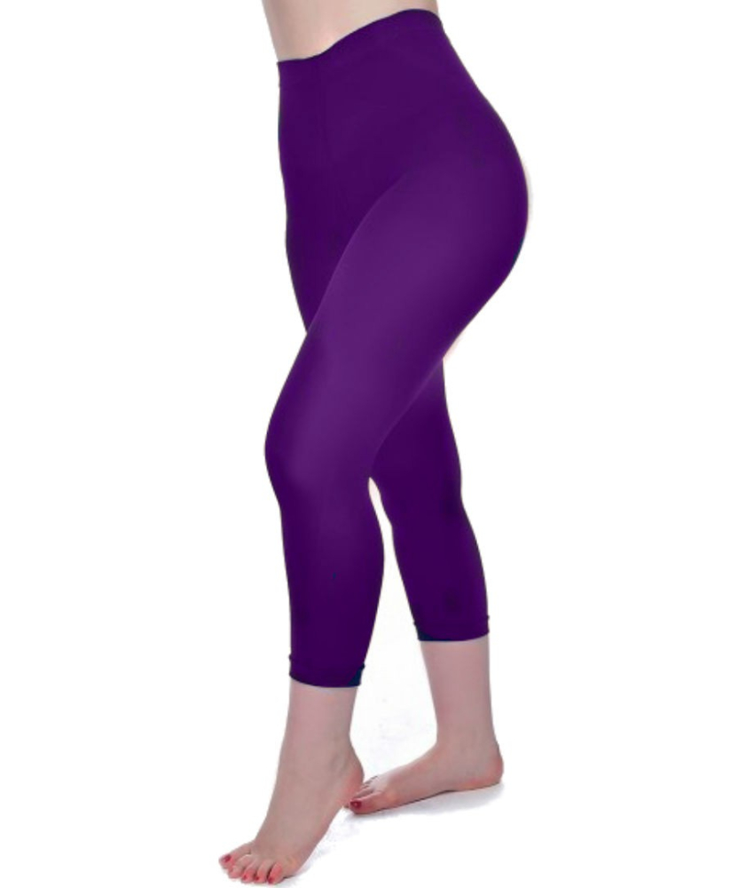 Purple Curvy Super Stretch Capri Leggings