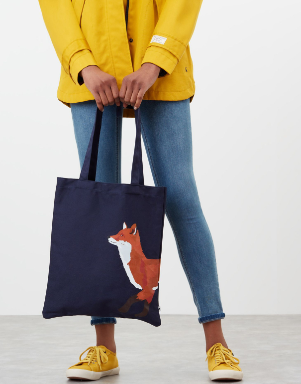Lulu shopper navy fox fra Tom joules